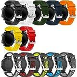 Syxinn Compatible avec Bracelet Galaxy Watch 46mm/Gear S3 Bracelets de Montre, Bande de Remplacement en Silicone Souple Sport