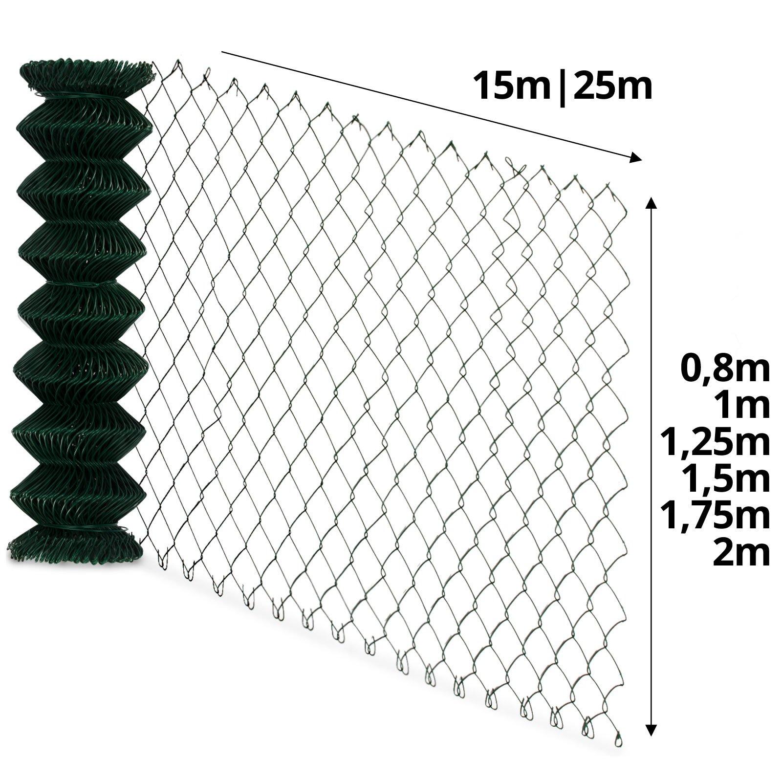 Casa Pura Maschendraht-Geflecht, grün,Maschenweite 60 x 60 mm, Drahtstärke 2,8 mm (80 cm x 15 m)
