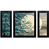 Home Attire Synthetic Nature Painting, Black, 86.36 cm x 35.56 cm x 3.04 cm