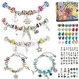 Aojun 89 PCS Cadeau Fille 6 à 14 Ans,Bijoux Enfants Fille Cadeau Rigolo Breloques Creation Bijoux,Bracelet De Charms Bricolag
