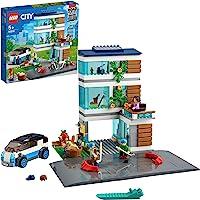 LEGO 60291 City La Maison familiale, Set de Construction de Maisons de poupées Modernes avec Plaquettes routières