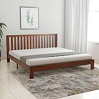 Amazon Brand - Solimo Petra Solid Sheesham Wood King Bed (Teak Finish)