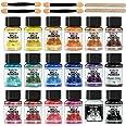 FansArriche Mica poeder - 18 kleuren Glitter epoxyharspigment, natuurlijke zeepkleurstof, metallic poederkleurstof voor het m