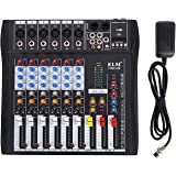 Buoqua 6 kanal Digital Mic Line audio mixer usb DJ Mixer 48V Phantom Mixing Console mischpult usb dj mischpult MP3 Audio Sound Mixer