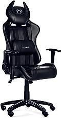 Diablo X-One Horn Gaming Stuhl Bürostuhl in Racing Optik, Kunstlederbezug, mit regulierbaren Armlehenen, Horn-Kissen, Farbwahl