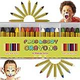 ENJSD 16 PCS Face Paint Crayons Kit, Bright Colors Face Paint Kit Set for Kids, Safe Non-toxic Face Body Crayons…