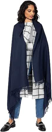 likemary Kasa Sciarpa invernale oversize, scialle donna elegante e avvolgente in lana merino, sciarpa scialle ideale per viaggiare, 100% pura lana tessuta a mano, regalo etico per donna