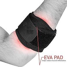 Arsa Medicare Tennis Elbow, Strap NON-SWEAT, NON-RASH. Versatile X-lARGE easy to use, power & strength for Elbow (Non Neoprene/Latex-free) UNISEX.