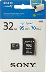 32GB High Speed Sony MicroSD Class 10 upto 95 mb/s Read 70 write speed SR-32UX2A