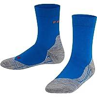 FALKE Unisex Kids RU4 Running Socks Cotton White Grey More Colours Thin Calf Length Lightweight Padded Cushioned Sole…