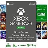 Abbonamento Xbox Game Pass Ultimate - 3 Mesi   Xbox Live Gold è incluso con l'abbonamento 3 Mesi   Xbox & Windows 10 - Codice