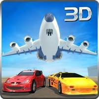 Transport de voiture de course en avion simulateur 3D: jeu de mission d'aventure de simulation de vol de fret de voiture extrême super rapide et rapide gratuit pour les enfants 2018