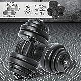 Physionics Set di Manubri - 30kg o 40kg - Regolabili, Acciaio o Ferro - Taglie a Scelta - Dischi, Pesi, Palestra, Fitness, Allenamento