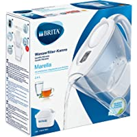 BRITA, Carafe Filtrante, Marella, 2.4L, 1 Cartouche Filtrante MAXTRA+ incluse - Blanc