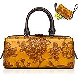 Damen-Handtasche mit Tragegriff und geprägtem PU-Leder 830