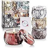 Yinuo Candle Vela Aromáticas Velas Perfumadas Caja de Regalo 4 Latas, Cera de Soja , Duración de 30 Horas, 4.4oz, con Tarjeta