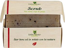 Sapone Scrub Viso Corpo Esfoliante Erbecedario, 1 Saponetta Artigianale E Naturale Da 100g