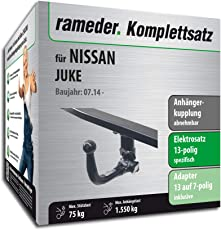 Rameder Komplettsatz, Anhängerkupplung Abnehmbar + 13pol Elektrik für Nissan Juke (121880-08922-1)