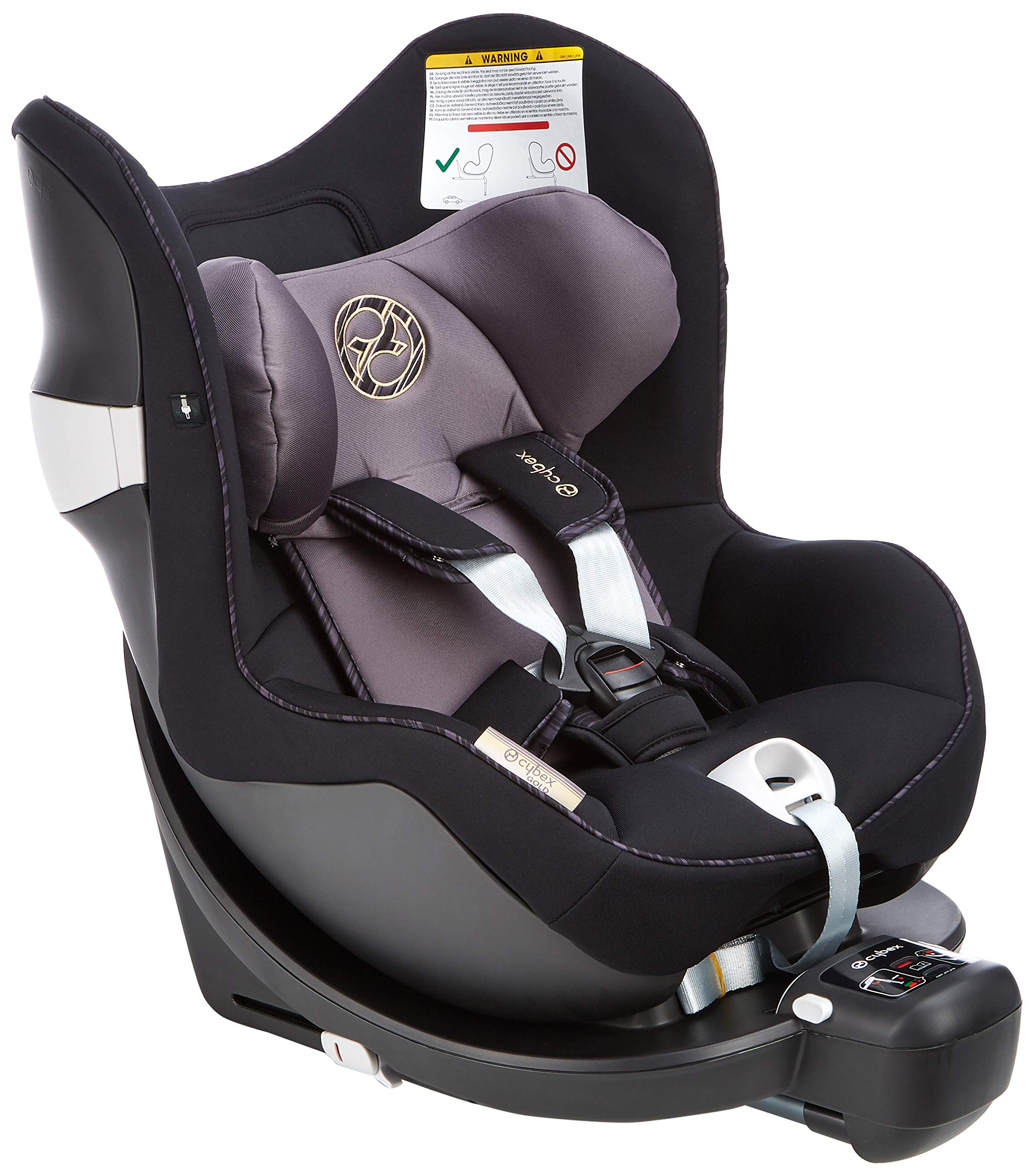 CYBEX Gold Sirona M2 i-Size Car Seat, Incl. Base M, From Birth to approx. 4 years, Up to Max. 105 cm Height, Premium Black  Cybex gold car seat sirona m2 i-size incl. base m Colour: premium black Item number: 519000959 2