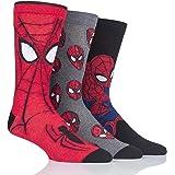SOCKSHOP Homme et Femme Marvel Spider-Man Chaussettes en coton Paquet de 3
