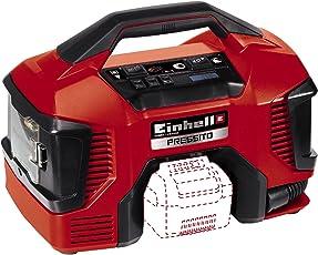 Einhell Power X-Change Hybrid-Kompressor Pressito (Lithium Ionen; Hybridfunktion: mit Stromkabel oder Akku; Hochdruck-, Niederdruckpumpe + Niederdrucksaugfunktion; inkl. 3-tlg. Aufblas-Adapter-Set)