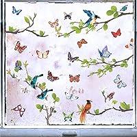 Stickers Autocollants Muraux Décalque Wall Sticker DIY Art Décor Murale Cuisine Décoration Fleur Oiseaux Arbre Papillon…