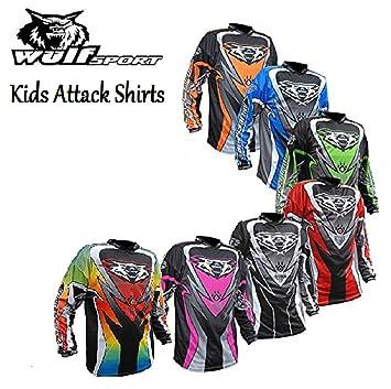 Blue,11-13 Years 2017 NEW Wulfsport Attack CUB JUNIOR KIDS Motocross Shirt Motorbike Quad Jersey