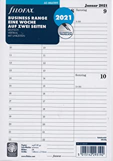 2021 Mehrsprachig Streifen Illustriertes Tagebuch Nachf/üll Paket Filofax 21-6323 Pocket Gr/ö/ße