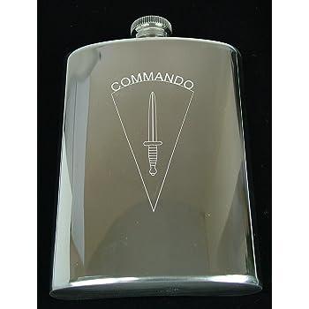 40 COMMANDO ROYAL MARINES DAGGER HIP FLASK