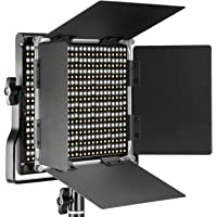 Neewer 660 LED Lumière Réglable Bicouleur 3200-5600K,CRI 96+ avec U Support et Coupeflux pour Studio Photo, YouTube, Photo Produit, Vidéo, Cadre Métallique