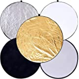 """PULUZ 24"""" (60cm) 5-in-1 Photography Reflector Light Reflectors for Photography"""
