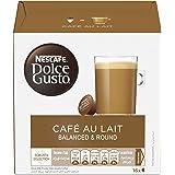 Nescafe Dolce Gusto Café Au Lait Coffee Capsules (16 Capsules, 16 Cups)