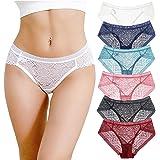 Aijolen Women's Bikini Lace Panties Hipster Knicker Breathable Underwear Pack of 6