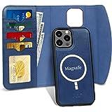 FYY - Funda para iPhone 12 Pro Max de 6.7 pulgadas y 2020, magnética, desmontable, 2 en 1 [soporta carga inalámbrica]