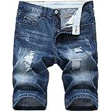 Allthemen Pantaloncini di Jeans da Uomo Pantaloni Corti Strappati con Buco Shorts Casual Estivo