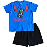 Chillin - Pijama corto para niño (11 a 16 años), color azul