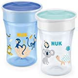 NUK Magic Cup vaso antiderrame bebe | Borde a prueba de derrames de 360° | +8meses | Sin BPA | 230ml | Mono/Koala (Azul) |