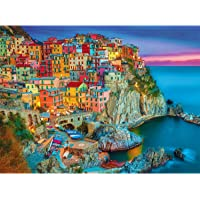 Magicfun Puzzle de 1000 Pièces- Maisons colorées dans Le Village de pêcheurs Italien, Casse-tête de Bricolage avec…