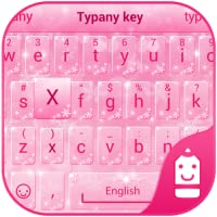 Pink Snow Theme&Emoji Keyboard