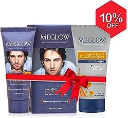 Meglow Men's Fairness Cream and Facewash, 120g (Meglow_025)