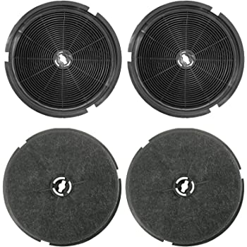 Pack Of 2 Filters, 190 x 38 mm Spares2go Type 150 Charcoal Carbon Filter For Leisure 1K2BP H100PK CA1K2BP Cooker Hood Vent
