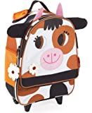 Janod - J07708 - Valise à Roulettes Vache
