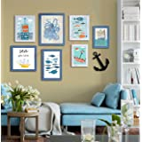 Painting Mantra Art Street Quotes Framed Wall Poster (Color :: Aqua,Style Name ::Never Stop Exploring,Item Shape ::Mixed) #wa