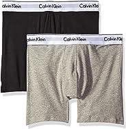 Calvin Klein Men's Underwear Modern Cotton Stretch Boxer Briefs, Grey Heather/Black, Medium