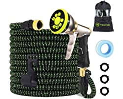 Garden Hose Expandable Hose Pipes- Heavy Duty Flexible Leakproof Hose High-Pressure Water Spray Nozzle & Bag & Plastic Holder