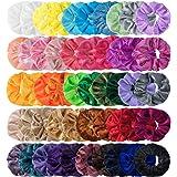 HBselect 50 pezzi Scrunchies Velluto Multicolor Set Elastici per Capelli Super Morbidi Accessori Capelli alla Moda Acconciatu