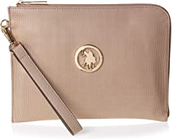 U.S. Polo Assn. Wristlet For Women, Leather - Gold