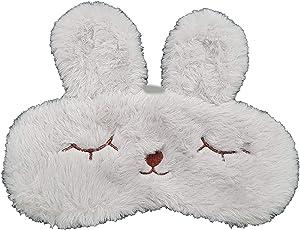Jenna Fur Bunny Sleeping Eye Mask for Insomnia, Meditation, Puffy Eyes and Dark Circles