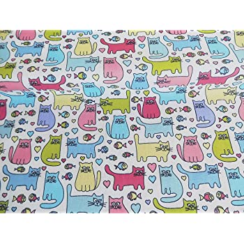 Polycotton Fabric Per Metre Pink Owl  4 size Options New