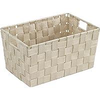 WENKO Panier de salle de bains Adria S, beige - Panier de salle de bain, Polypropylène, 30 x 15 x 20 cm, Beige